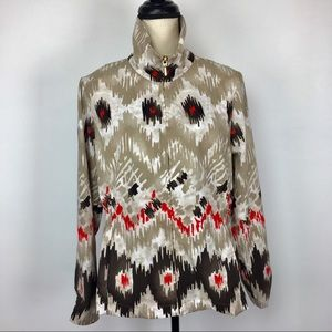 Zenergy by Chicos Ikat jacket with pockets size 1